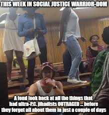 Social Justice Warrior Meme - the internet is in america this week in social justice warrior dom