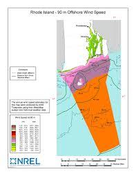 Map Rhode Island Windexchange Wind Energy In Rhode Island