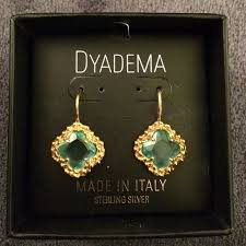 dyadema earrings dyadema 925 gold finish sterling silver earrings sterling