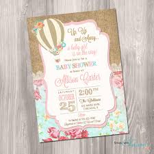 the air balloon baby shower invitations free invitations