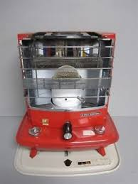 japanese heater vintage fuji electric red japanese portable kerosene heater ebay