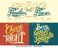 families forever born goodly parents choose stock vector 601163690