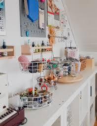 Langer Schreibtisch Craft Room Tour Einblick In Mein Kreativzimmer Janna Werner