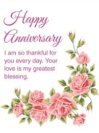 i am thankful for you happy anniversary card birthday