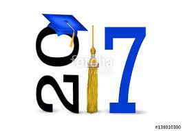 gold tassel graduation blue graduation cap and gold tassel for class of 2017 stock photo