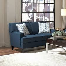 blue suede couch wayfair