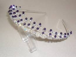handmade tiaras purple velvet ab tiara