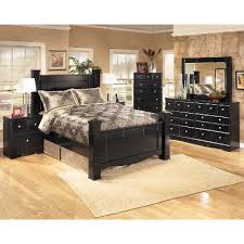 black contemporary 6 bedroom set shay rc willey
