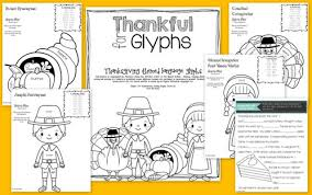thankful for glyphs thanksgiving themed language glyphs the
