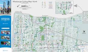 Urban Map Cycling Map U2013 Mississauga Bikes