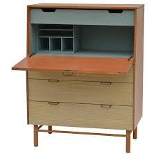 Secretary Desk With Hutch by Pristine Mid Century Secretary Cabinet By Raymond Loewy For Mengel