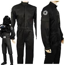 wars jumpsuit wars imperial tie fighter pilot costume black