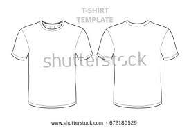 blank tshirt template front back stock vector 672180529 shutterstock