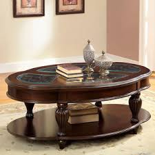 Cherry Wood Coffee Table Dark Cherry And Glass Top Oval Cocktail Coffee Table Round Solid