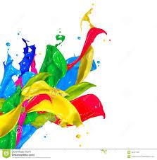 photo collection paint splash 3d colors