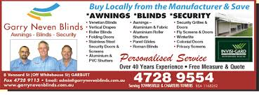 Awnings Townsville Garry Neven Blinds In Garbutt Qld 4814 Local Search