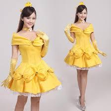 beauty and beast cosplay princess belle short dress girls fancy