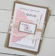 wedding invitation ideas sweet pink vintage wedding invitations