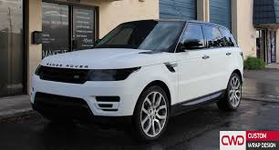 matte white bmw range rover matte white and gloss black wrap