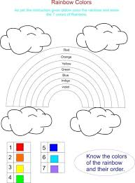 photos rainbow color worksheets kindergarten free colors