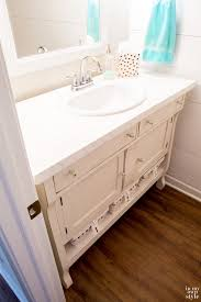 Furniture Sink Vanity How To Repurpose A Sideboard Into A Sink Vanity In My Own Style