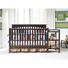 Graco Convertible Crib With Changing Table Graco Woodbridge 4 In 1 Crib Changer Combo Espresso Walmart