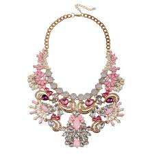 big crystal statement necklace images Amazon hot sale fashion women multicolor crystal statement jpg