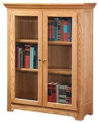 Solid Wood Bookcases With Glass Doors Stunning Solid Wood Bookcases With Glass Doors M53 For Home Design