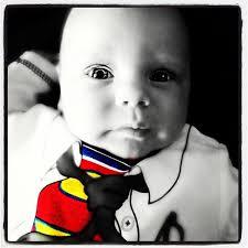 facetune superman superbaby super boy baby grow colour black white