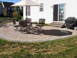 patio backyard patio design ideas cream and blackish brown