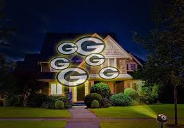 nfl team pride outdoor projector house light show green bay