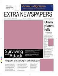 newspaperfix newspapers for illustrator newspaper templates