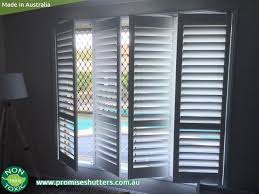 white plantation shutters installed without frame