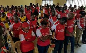 funeral fans arsenal fans hold funeral after ucl draw