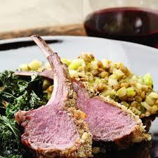 rack of lamb with warm apple u0026 lentil salad recipe eatingwell