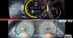 lexus rc f comparison bmw m4 vs lexus rc f acceleration comparison is surprising