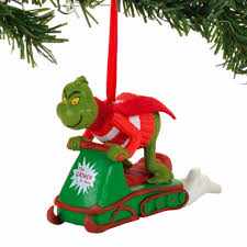 grinch snowmobiling fun ornament annual ornaments direct