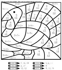 Math Worksheets Easy Thanksgiving Coloring And Activities Pages For