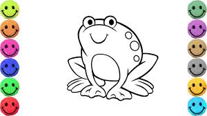 frog coloring pages drawing and art colors for kids youtube