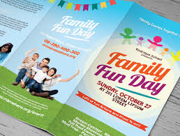 family fun day trifold brochures brochure templates creative