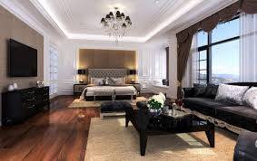 bedroom in the living room home design