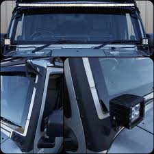 Jeep Wrangler Led Light Bar by New 2017 Jk Wrangler Steel Windshield Led Light Bar U0026 Spotlight