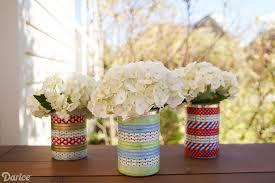 Tin Vases Tin Can Craft Vase With Washi Tape Darice
