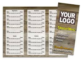 takeout menu template restaurant menu templates menuhouse