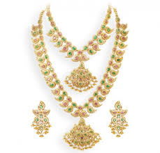 gold haram sets jewellery designs traditional multicolor gold haram and
