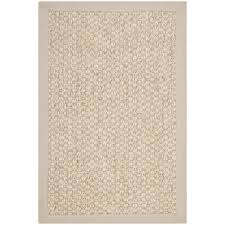 7x9 Area Rugs Chunky Basketweave Marble Ivory Taupe Sisal Rug Overstock