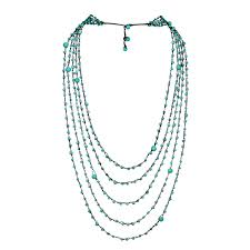multi layered necklace images Turquoise stones floating bubbles multi layered necklace aeravida jpg