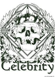 coloring pages tattoos tattoo skeleton celebrity coloring pages printable