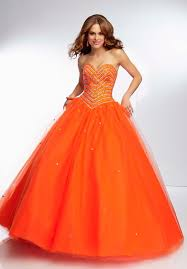 discounted sweetheart tulle lace up back beaded orange red sweet