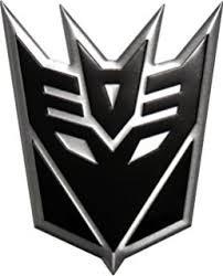 transformers decepticons logo 3d car ornament
